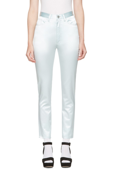 Marc Jacobs - Blue Satin Skinny Trousers