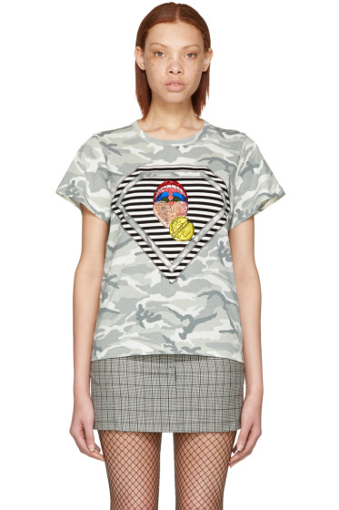 Marc Jacobs - Grey Julia Verhoeven Edition Camo Mouth T-Shirt