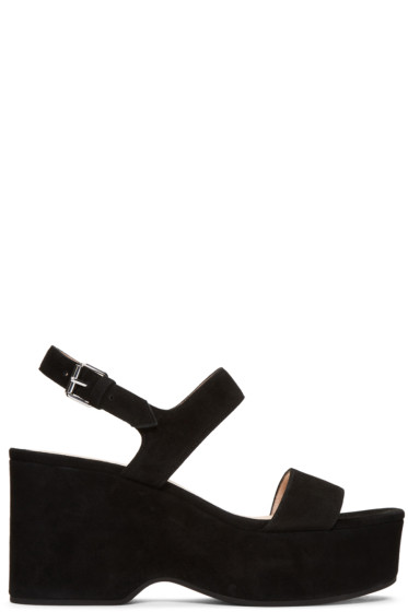 Marc Jacobs - Black Suede Lily Sandals