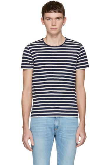 Marc Jacobs - Navy Striped T-Shirt
