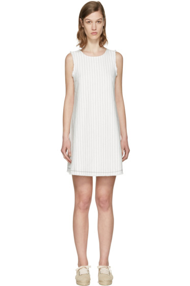 T by Alexander Wang - White Cotton Burlap Dress