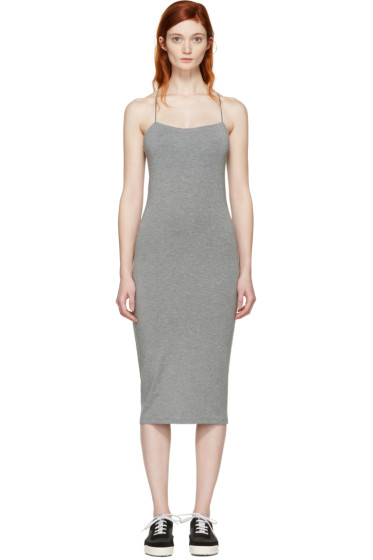 T by Alexander Wang - Grey Cut-Out Cami Dress