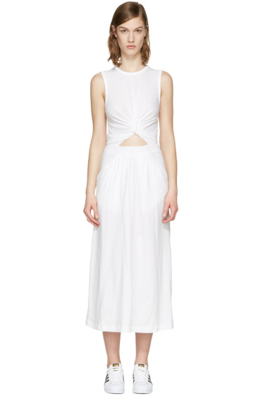 T by Alexander Wang - White Front Twist Dress