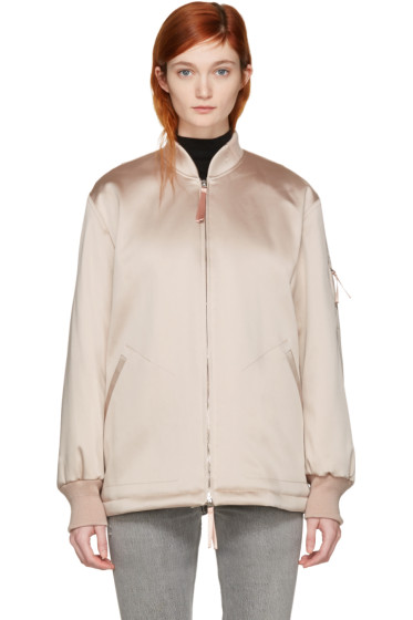 T by Alexander Wang - Pink Nylon Bomber Jacket