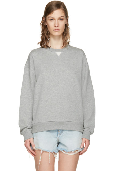 T by Alexander Wang - Grey French Terry Pullover