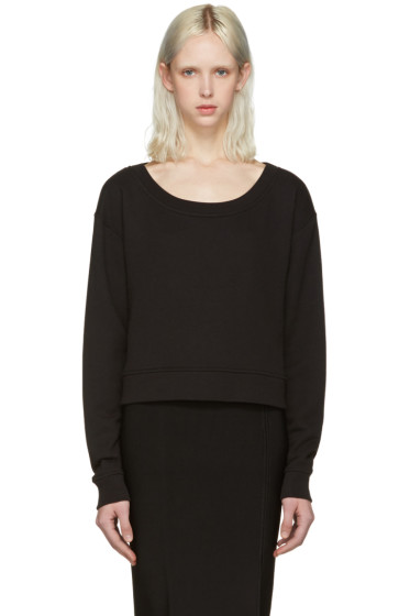 T by Alexander Wang - Black Cropped Pullover