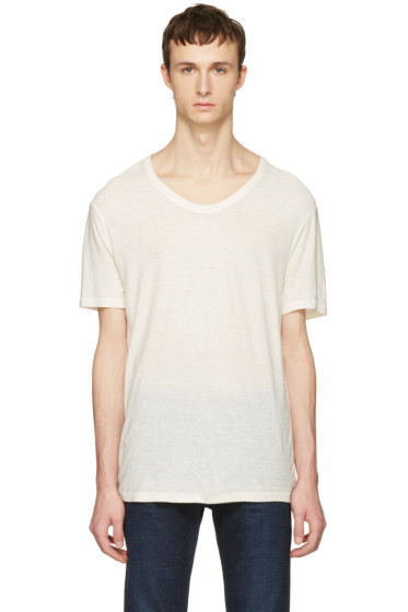 T by Alexander Wang - Ivory Silk-Blend T-Shirt