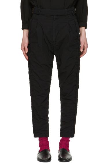 Robert Geller - Black Undone Blixa Trousers