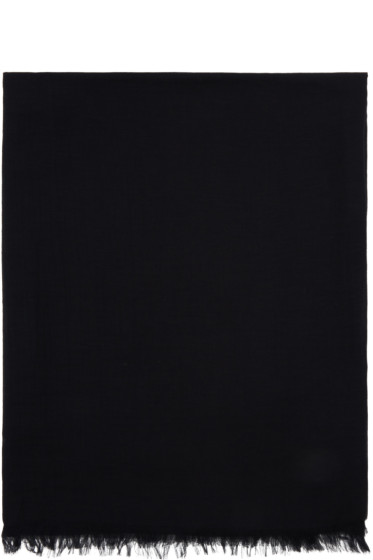 Rick Owens - Black Cashmere & Cotton Scarf