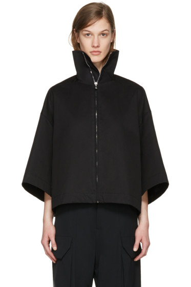 Rick Owens - Black Jumbo Cropped Windbreaker Jacket