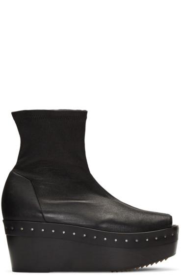 Rick Owens - Black Sock Sabot Boots