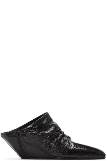 Rick Owens - Black Sabot Wedge Heels