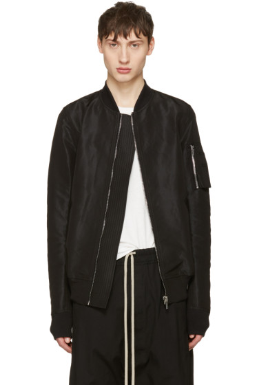 Rick Owens - Black Flight Bomber Jacket