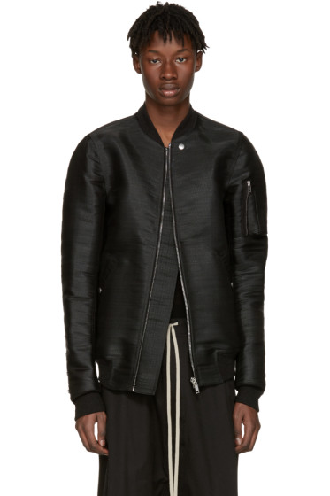 Rick Owens - SSENSE Exclusive Black Horsehair Flight Jacket
