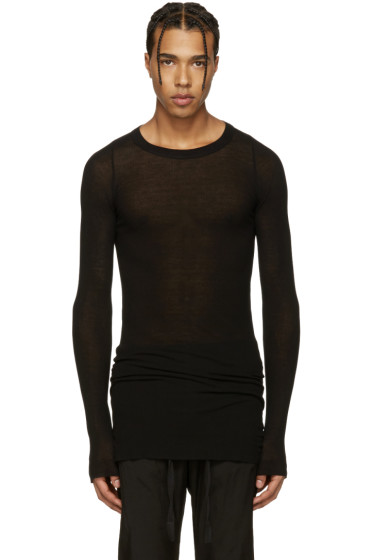 Rick Owens - Black Ribbed T-Shirt