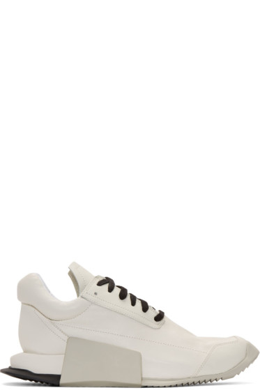 Rick Owens - Ivory adidas Orginals Edition Leather Level Sneakers