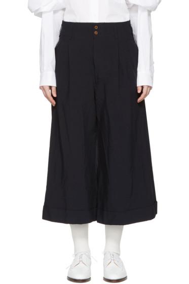 Comme des Garçons - Navy Cropped Trousers