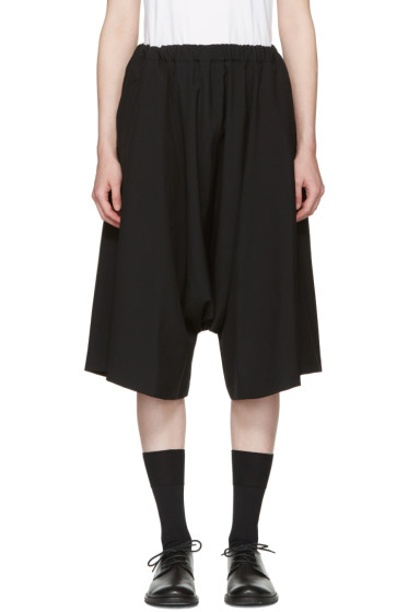 Comme des Garçons - Black Wool Shorts