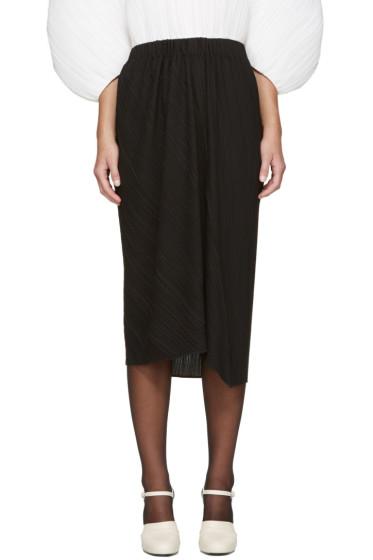 Jil Sander - Black Plissé Skirt