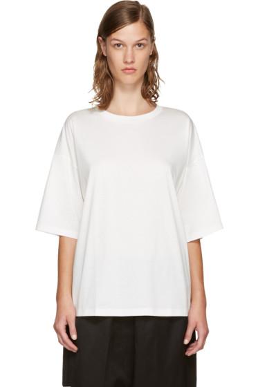 Jil Sander - White Open Back T-Shirt