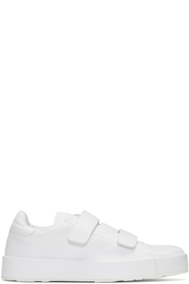 Jil Sander - White Triple Velcro Sneakers