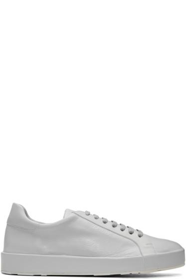 Jil Sander - Grey Leather Sneakers