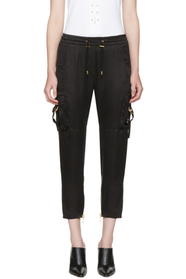 Balmain - Black Sateen Cargo Pants
