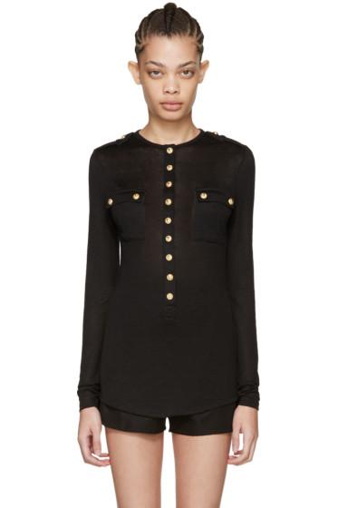 Balmain - Black Pockets Pullover
