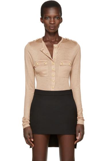 Balmain - Tan Pockets Pullover