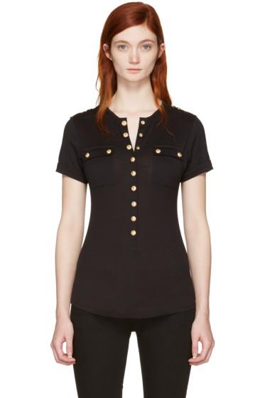 Balmain - Black Pockets T-Shirt