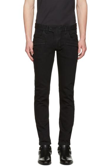 Balmain - Black Biker Jeans