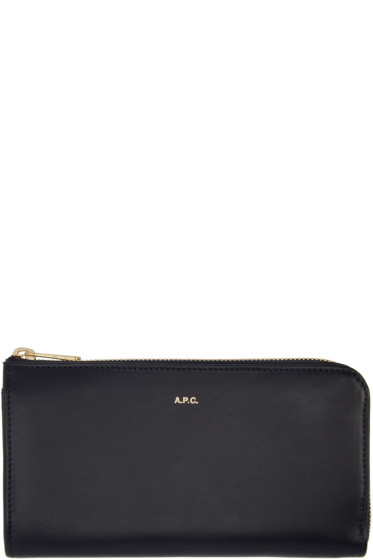 A.P.C. - Navy Long Continental Wallet