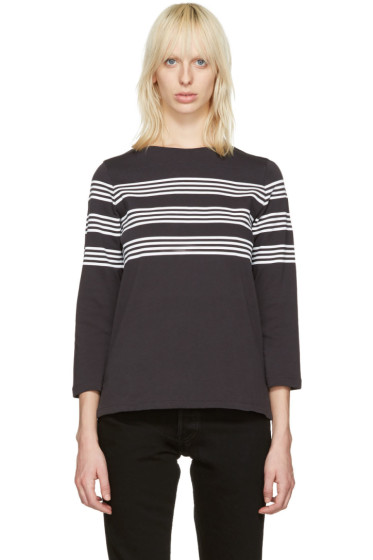 A.P.C. - Black Striped Re T-Shirt