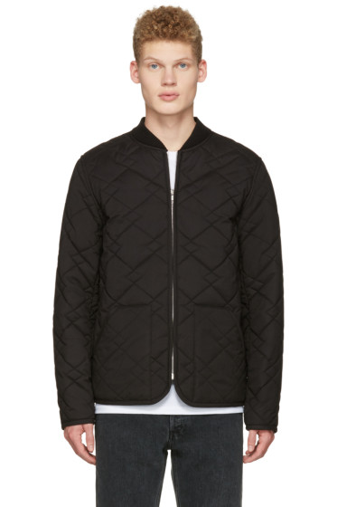 A.P.C. - Black Quilted Ontario Bomber Jacket