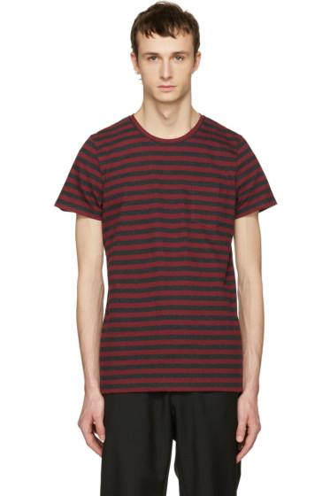 A.P.C. - Red Striped Keanu T-Shirt