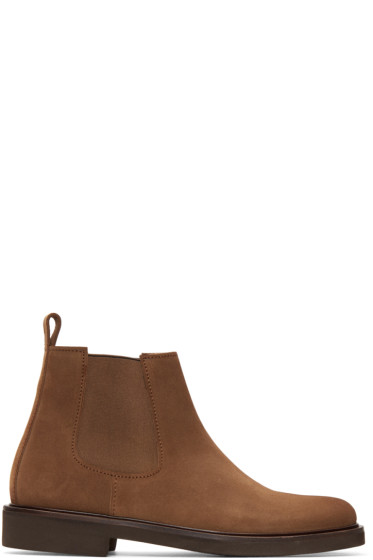 A.P.C. - Brown Simeon Chelsea Boots