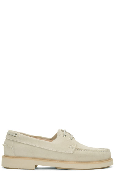 A.P.C. - Beige Basile Boat Shoes