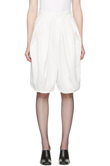 Junya Watanabe - White Linen Denim Shorts