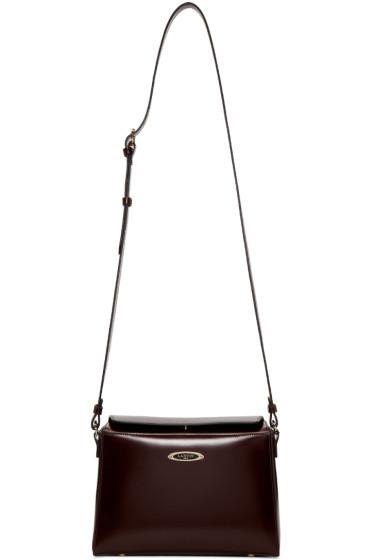 Lanvin - Burgundy Small Cube Bag