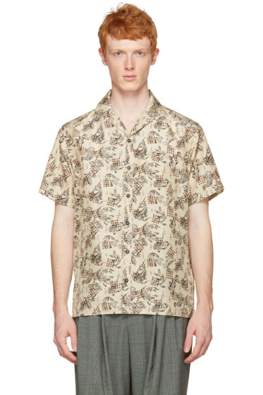 Lanvin - Beige Silk Koi Fish Shirt