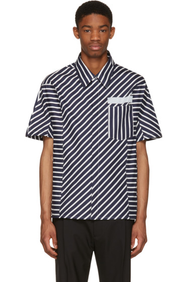 Lanvin - Navy Stripes Shirt