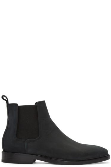 Lanvin - Black Nubuck Chelsea Boots