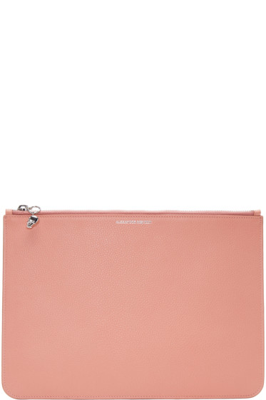 Alexander McQueen - Pink Leather Pouch