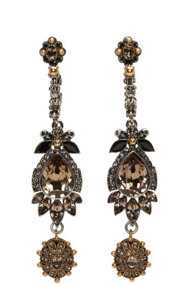 Alexander McQueen - Multicolor Jeweled Drop Earrings