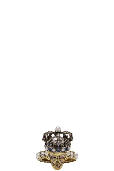 Alexander McQueen - Gold King Skull Ring