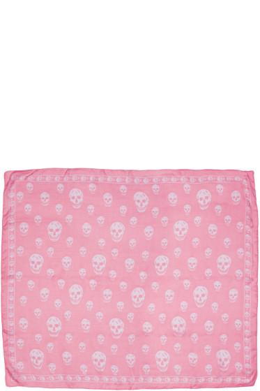 Alexander McQueen - Pink Skull Scarf