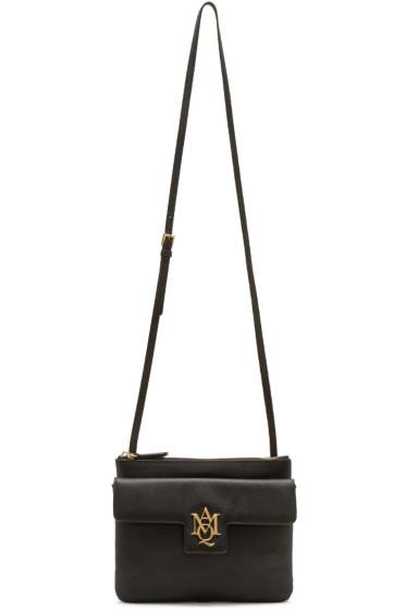 Alexander McQueen - Black Insignia Double Pouch Bag