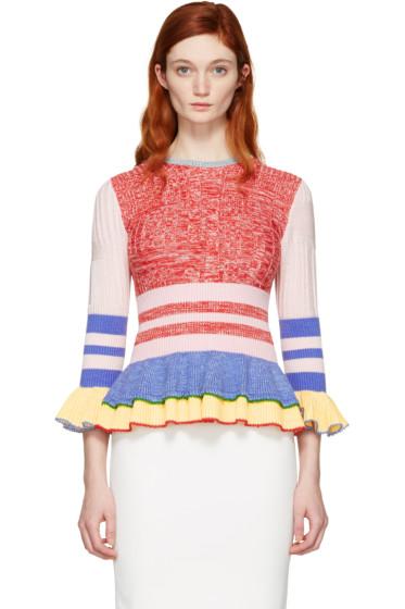 Alexander McQueen - Multicolor Peplum Sweater