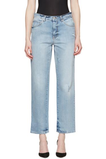 Alexander McQueen - Blue Loose Fit Jeans