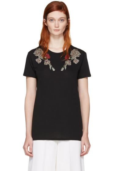 Alexander McQueen - Black Flower T-Shirt